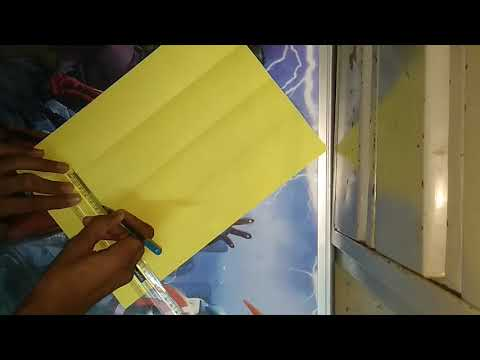 How to make a cube in A4 size paper