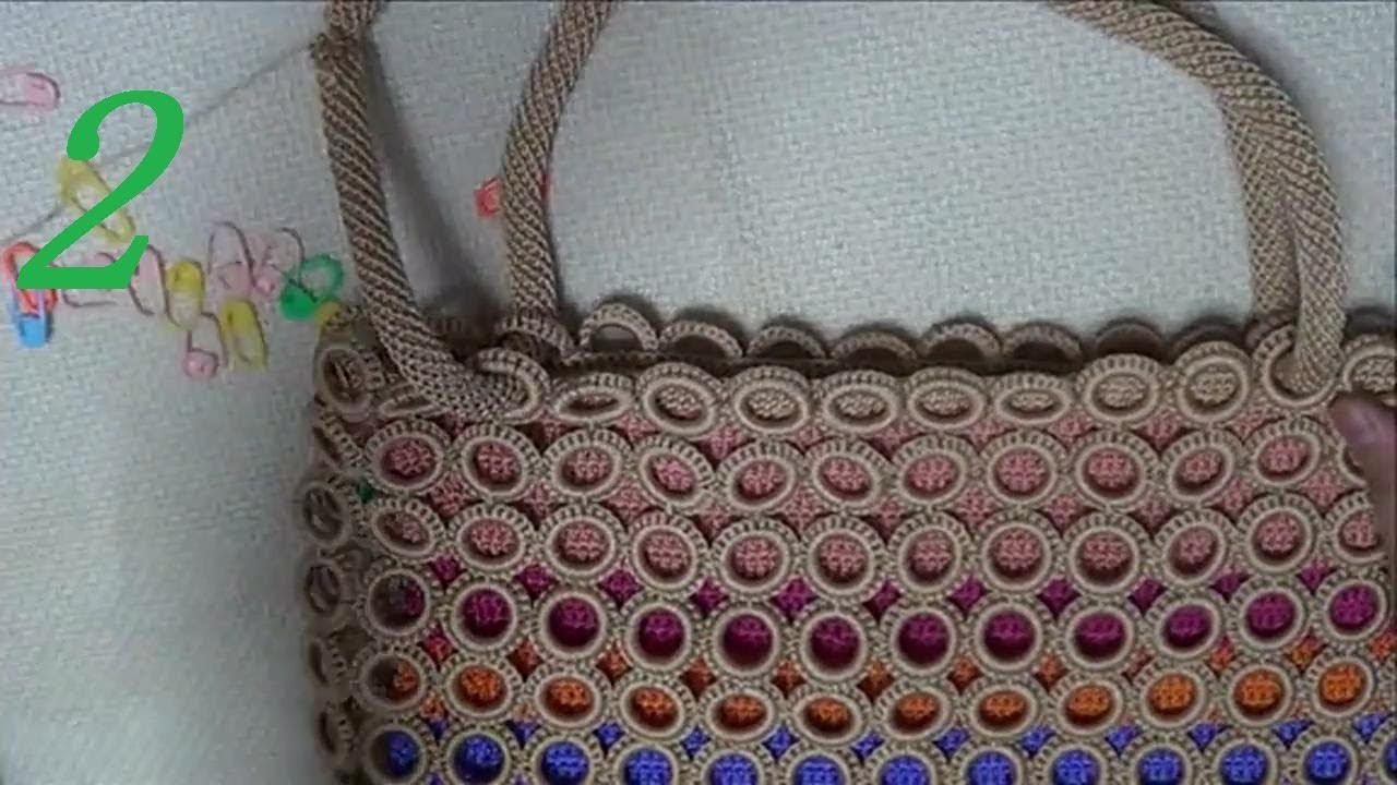 Crochet Circle Bag : How to Crochet Bag: Circle Bag(Pattern 2) 2/3 - YouTube