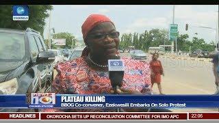 BBOG Co convener, Ezekwesili Embarks On Solo Protest Over Plateau Killings