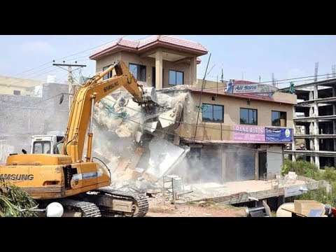 operation against illegal construction in pakistan