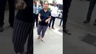 Noida girls fighting over feeding the dogs