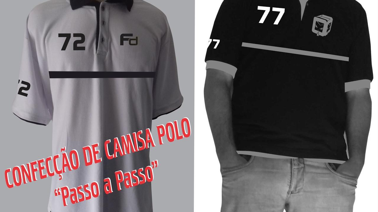 91ab80ff96 CONFECÇÃO DE CAMISA POLO (PASSO A PASSO) - YouTube