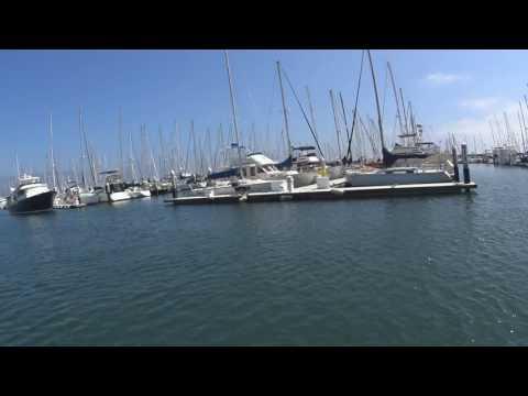 Sailing in the coast of Santa Barbara