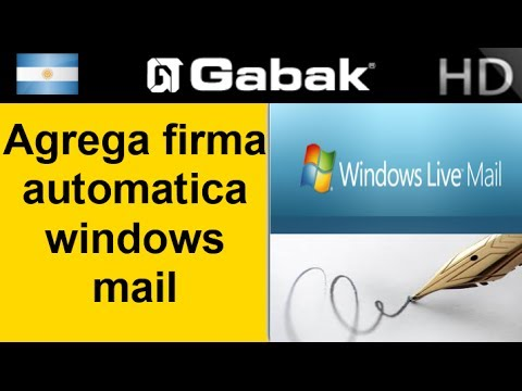 how to add signature in windows live mail 2009