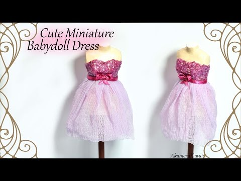 sparkly-miniature-babydoll-dress---fabric-doll-tutorial