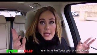 "Adele Raps Nicki Minaj ""Monster"" Verse ● Adele Carpool Karaoke ● 2016 ● HD"