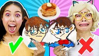 เเพนเค้ก อาร์ต ชาเลนจ์ 🥞ทำแพนเค้ก โคนัน, ลูฟี่ & ชิคกี้พาย DIY เเพนเค้ก