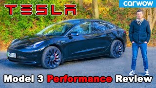 Tesla Model 3 Performance 2021 review: see how quick it is 0-60mph... And easy to drift!