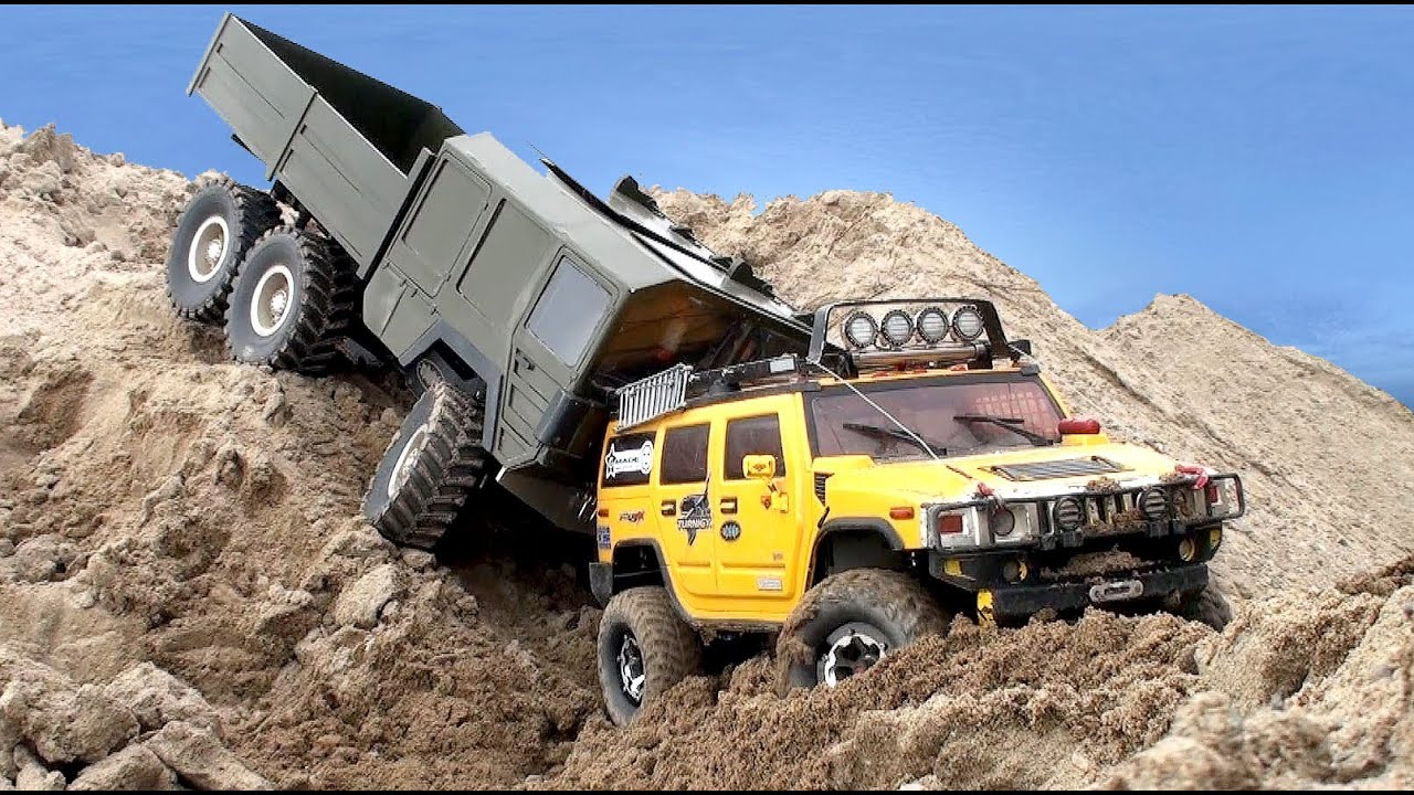 Rc Truck Off Road Man Kat1 6x6 Vs Hummer H2 4x4 Youtube