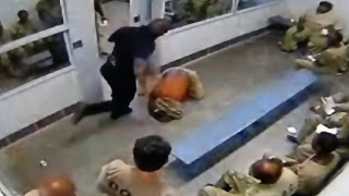Cook County Jail guard beating prisoner