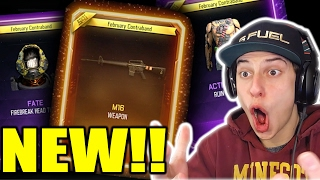 THE NEW DLC WEAPONS!! BO3 *NEW GUNS* SUPPLY DROP OPENING!! (February New Weapons & Themes)