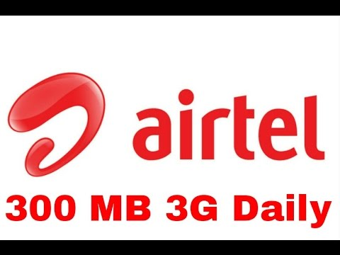 How to use airtel Free  300 MB Daily (3G)