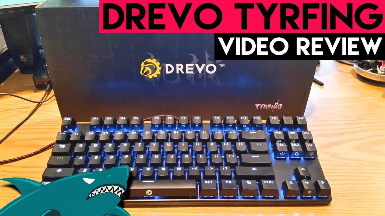 Drevo Tyrfing 87 Key Tkl Review Cheap Mechanical Keyboard 2017 Youtube
