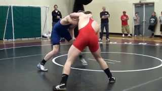 Wrestling Match ending in a 5 Point Throw