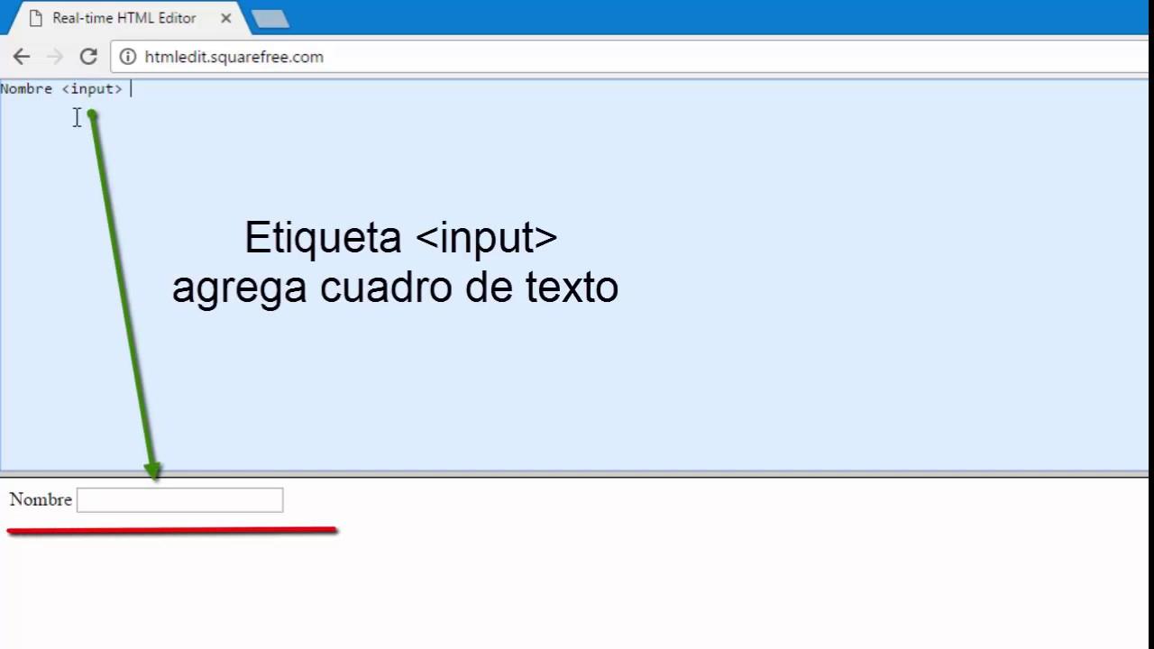 Etiqueta input en HTML - YouTube