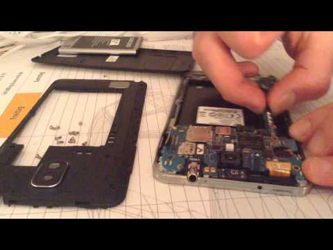 Samsung Note 3 water damage repair solution - YouTube