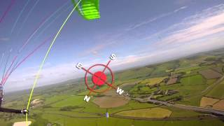 Teaching how to thermal on a paraglider glider