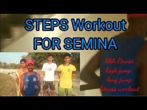 Setps Workout For Seminar Army Police 1600 M 400 Speed Runing Long Jump Hig Jump 👍