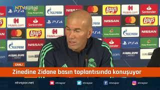 #CANLI - Zinedine Zidane, Galatasaray maç öncesi konuşuyor