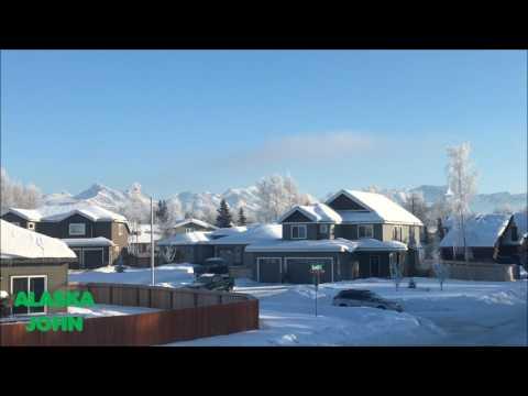 ALASKA STREET VIEW - Sunny Chugach Mountains - February 5th 2017