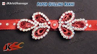 DIY Paper Quilling rakhi for Raksha Bandhan | How to make |  JK Arts 574