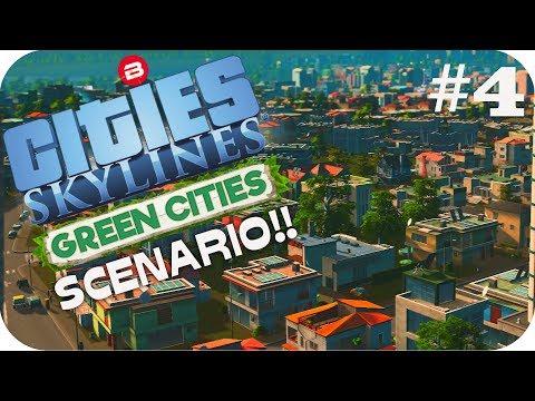 Cities: Skylines Scenario ▶TRAFFIC CALMING◀ Green Cities DLC Clean Up Crew Part 4