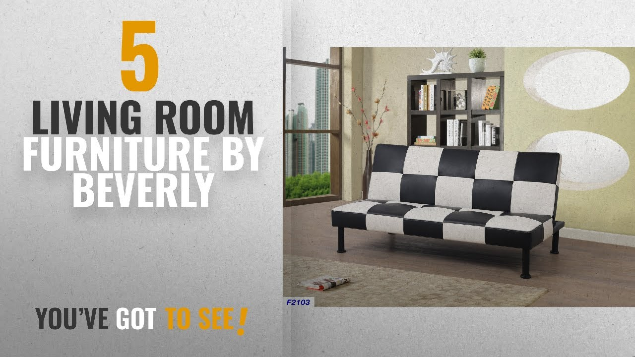 top 10 beverly living room furniture  2018   beverly fine furniture f2103 checkered futon sofa bed top 10 beverly living room furniture  2018   beverly fine      rh   youtube
