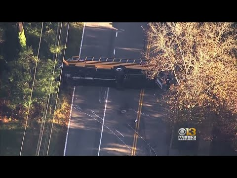 Multiple Injured After School Bus Crash In Anne Arundel County
