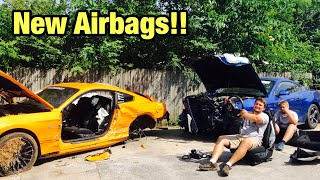 Rebuilding My Totaled Wrecked 2018 Ford Mustang GT Part 3 From Copart Salvage Auction