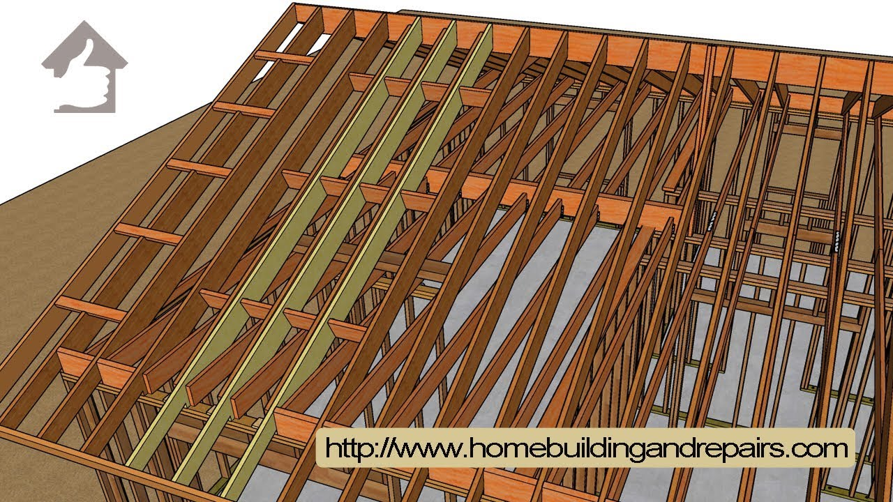 How To Raise Sagging Roof Rafters By Attaching New Ones To