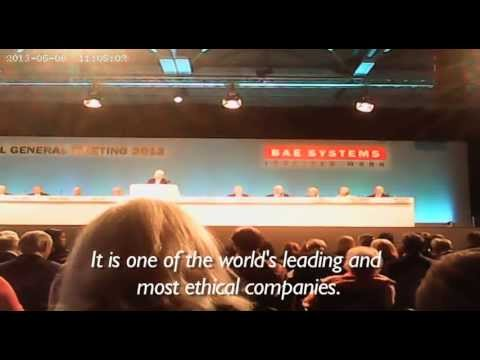 Challenging the arms trade at BAE's AGM