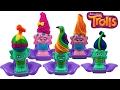 POPPY & BRANCH TROLLS Play-doh Press n Style Hair Salon