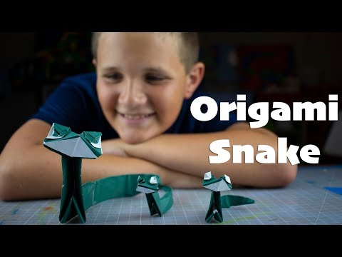 Origami Snake - How to fold a paper snake