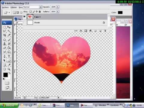 Video tutorial imagen en forma de corazon con photoshop - Como hacer un corazon con fotos ...