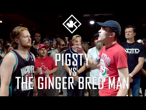 KOTD - Rap Battle - Pigsty vs The Ginger Bred Man | #GZ