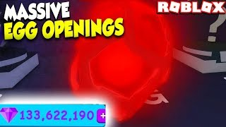 OPENING 130,000 MILLION GEMS WORTH OF INFERNO EGGS in ROBLOX BUBBLE GUM SIMULATOR