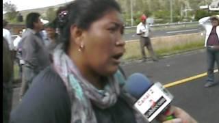 habitantes de la comunidad de chalchihuapan bloquearon por 5 horas la autopista Atlixco puebla thumbnail