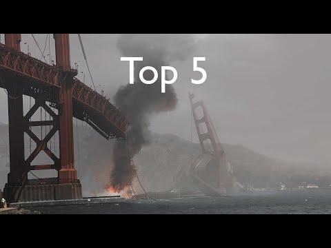 Top 5 Golden Gate Bridge Destruction Scenes