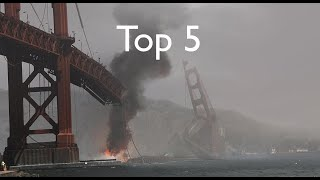 Top 5 Golden Gate Bridge Destruction Scenes
