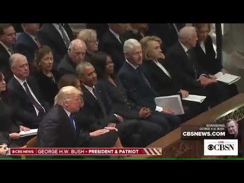 The Conservative Circus with James T. Harris - Bitter Clinger Hillary Snubs Trump at Bush Funeral