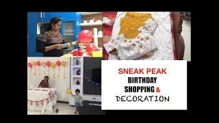 SNEAK PEAK| BIRTHDAY SHOPPING+DECOR |TAMIL BIRTHDAY VLOG