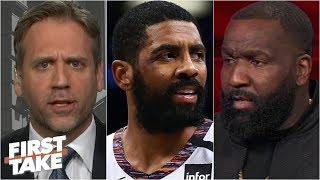 Max Kellerman agrees with Kendrick Perkins: Kyrie Irving is a bad leader | First Take