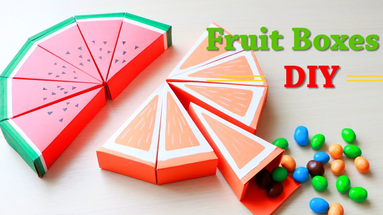 Коробочки ФРУКТОВЫЕ ДОЛЬКИ / DIY: FRUIT BOXES / NataliDoma