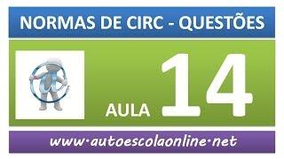AULA 58 PROVA SIMULADA NORMAS DE CIRCULAÇÃO - CURSO DE LEGISLAÇÃO DE TRÂNSITO EM AUTO ESCOLA