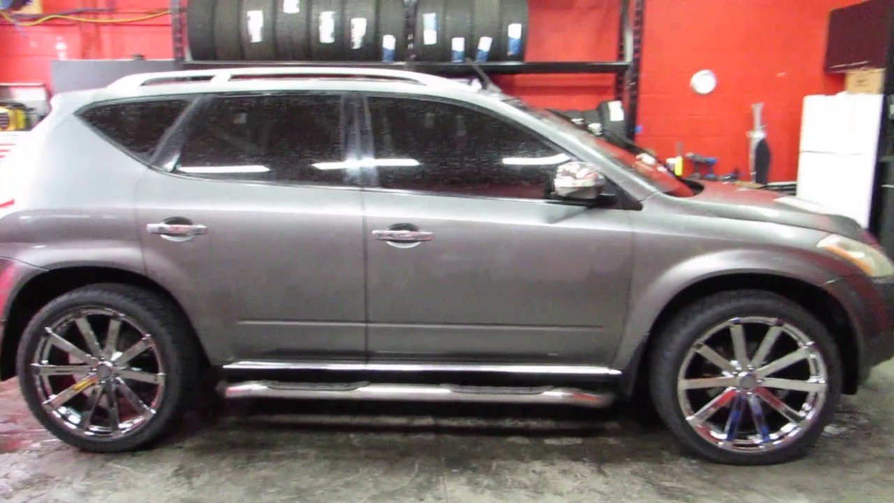 2006 nissan murano with 22 inch chrome rims tires