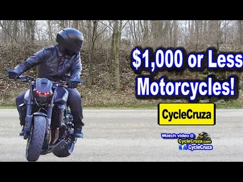 $1000 or Less Motorcycles! Tips to Get Sick Deals | MotoVlog