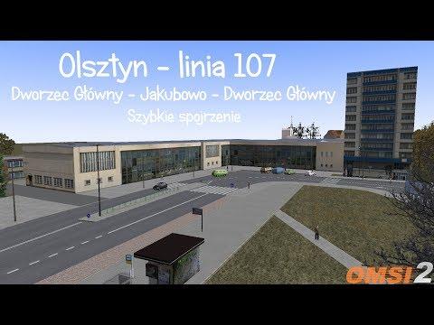 OMSI 2 - Olsztyn, fragment linii 107