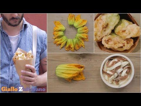 Fiori Fritti Giallo Zafferano.Fiori Di Zucca Ripieni Ricetta In 1 Minuto Youtube