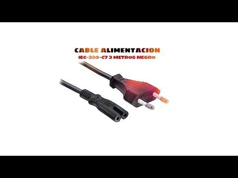 Video de Cable de alimentacion IEC-320-C7 3 M Negro