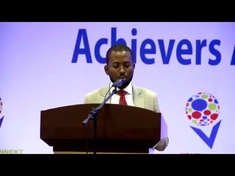 Sangu Delle at the YouthConnekt Champions and Young Rwandan Achievers Awards| Kigali, 11 Dec 2015